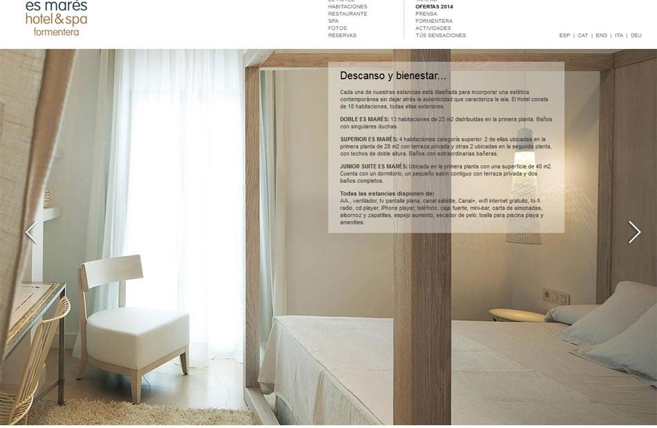 Hotel Es Mares   Diseño web y publicidad Ibiza y Formentera. Diseño ...