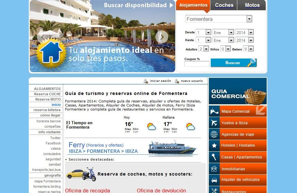 Guias comerciales dise o web y publicidad ibiza y for Paginas de inmuebles